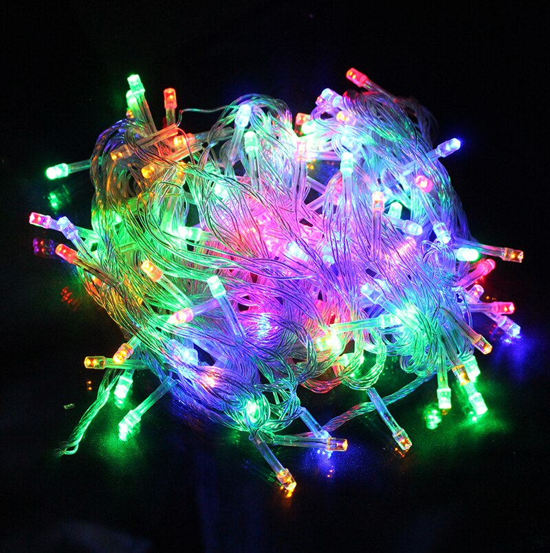 8 Modes ,10 Meter 100 Led Fairy String Light Power Point , Multi