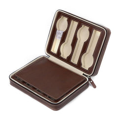 8 Slots Travel Watch Case - Brown.