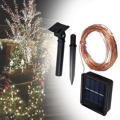 Solar ed Power 8 Modes - 10 Meter 100 Led Copper Wire , Multi - Starzdeals