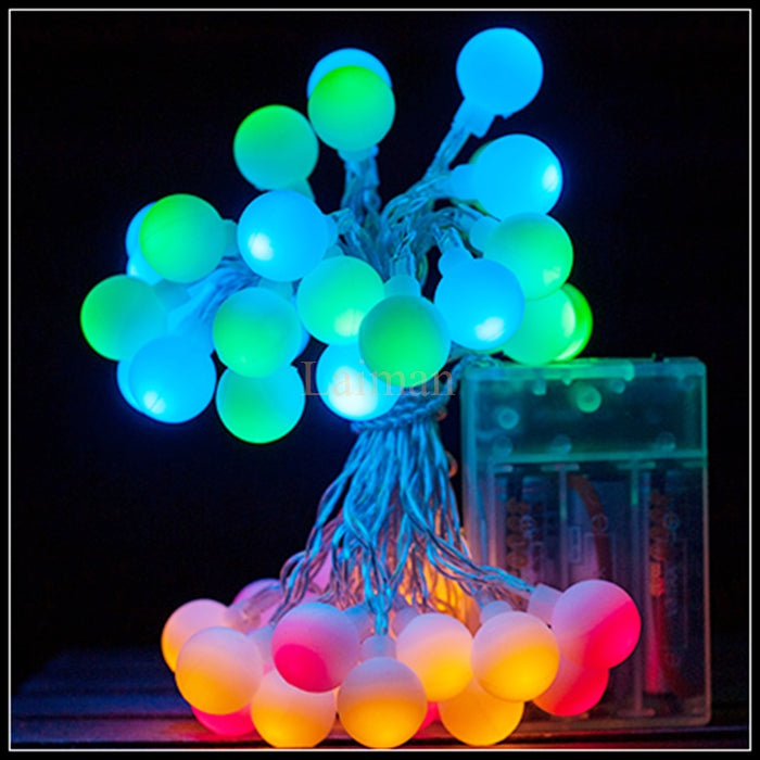 Battery Operated - 5 Meter 50 Balls Fairy String Light , Multi - Starzdeals