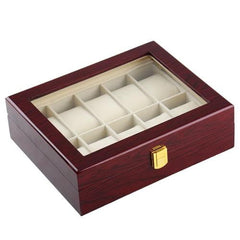 10 Slots Rose Wood Watch Storage Box - Starzdeals