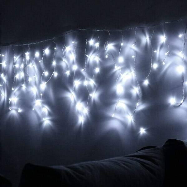 8 Modes - 3 Meter 188 Led Fairy Curtain Lights Power Point, Pure White - Starzdeals