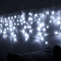 8 Modes - 3 Meter 188 Led Fairy Curtain Lights Power Point, Pure White.