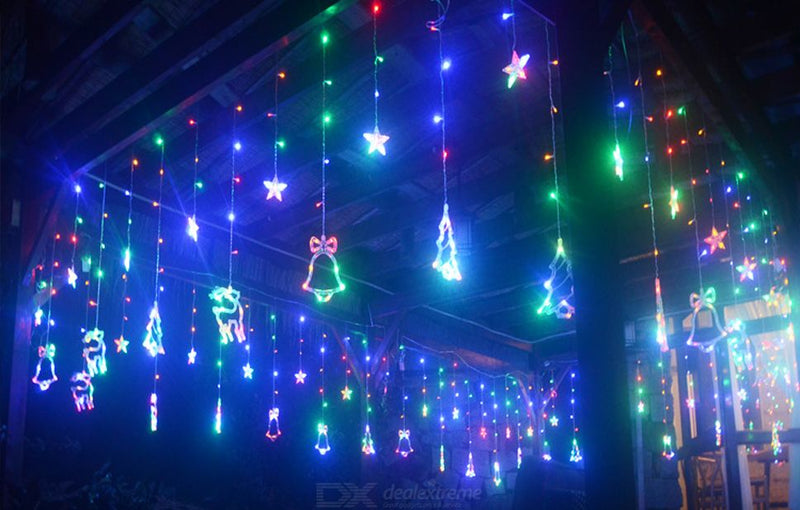 8 Modes - 3.5 Meter Christmas Curtain Lights, Multi