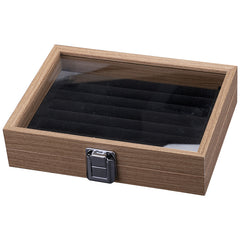 Wooden Ring Small Jewelry Storage Box, inner Black