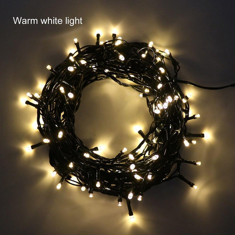 Static Mode - 20 Meter 200 Led Green String Fairy Light Power Point , Warm White