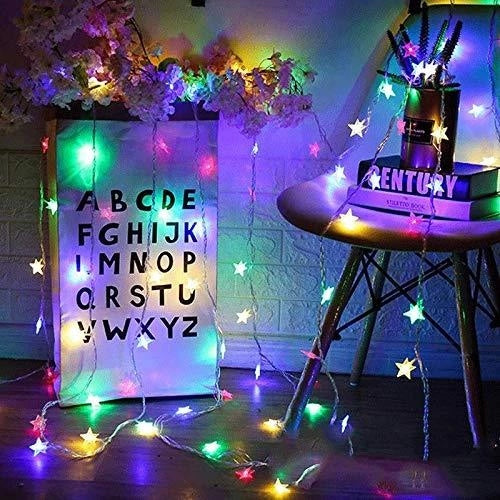 8 Modes - 10 Meters 100 Stars Fairy String Light Power Point, Multi - Starzdeals