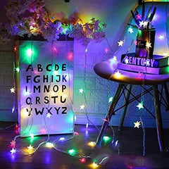 8 Modes - 10 Meters 100 Stars Fairy String Light Power Point, Multi