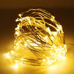 10 Meter 100 Led Battery Operated Silver/Copper Wire , 2 Colors Available - Starzdeals