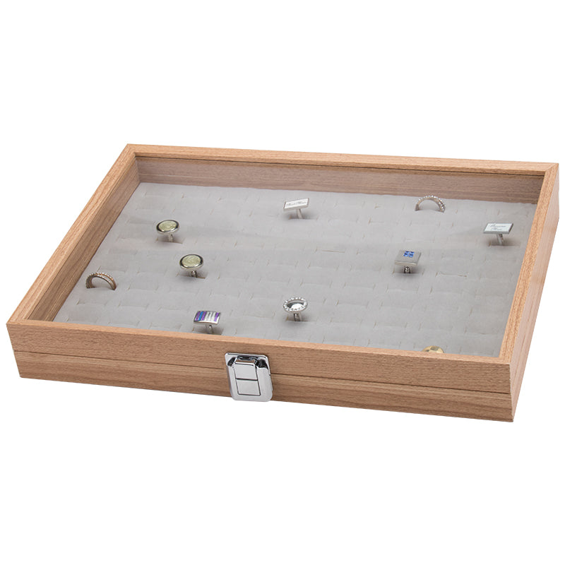 Individual Ring Slot Wooden Storage Box