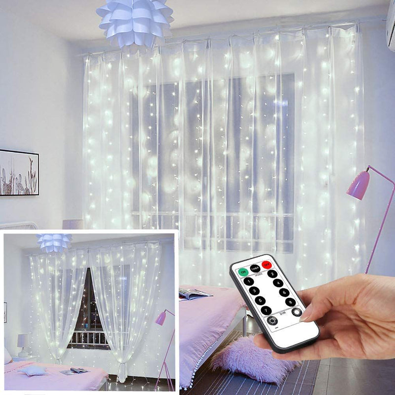 USB Operated - 3 Meter x 3 Meter 300 Led Fairy Curtain Lights , Pure White