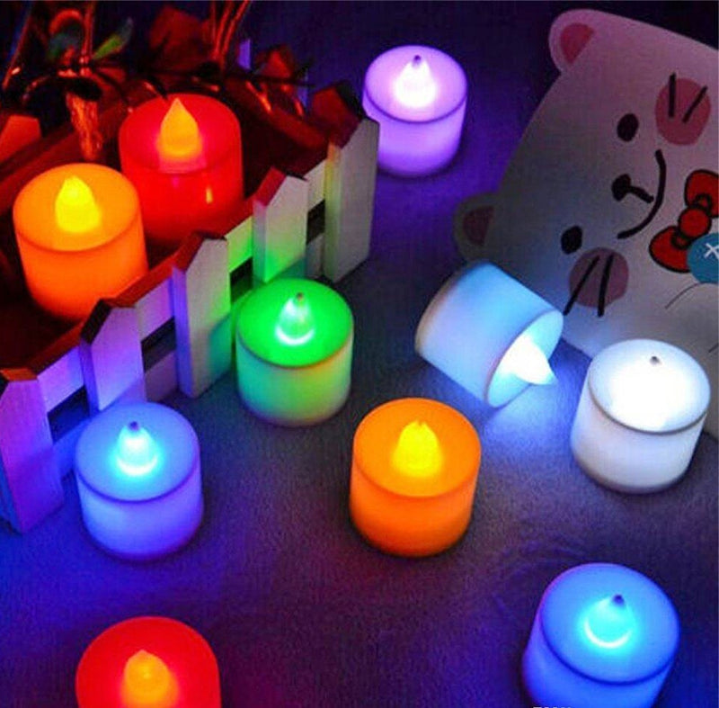 24 Pieces LED Tea Light Candle Battery Operated,6 Colors Available - Starzdeals