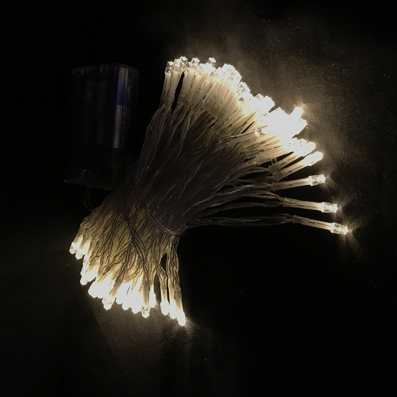 10 Meters 100 Led Battery Operated Fairy String Light-Warm White.