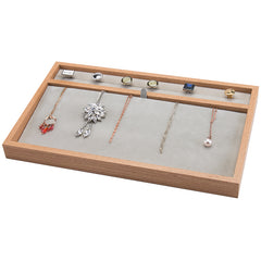 Necklace / Ring Wooden Jewelry Storage Tray
