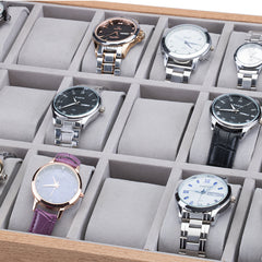30 Slots Wooden Watch Storage Tray