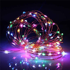 5 Meters 50 Led Battery Operated Copper/Silver Wire , RGB , Auto Changing Led.