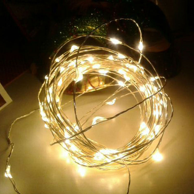 5 Meter 50 Led Battery Operated Copper/Silver Wire, 2 Colors Available
