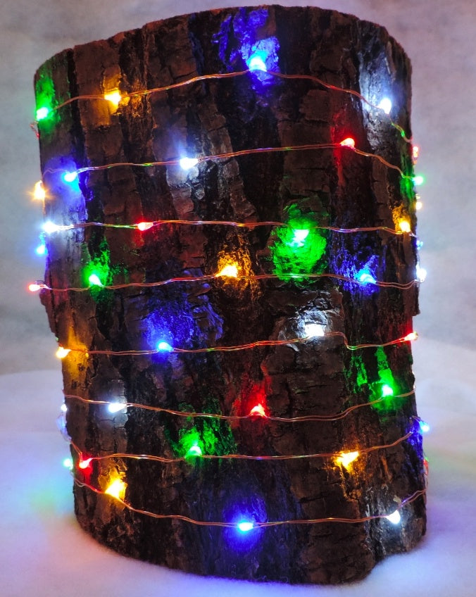 10 Meters 100 Led Battery Operated Copper Wire, Multi Static Mode
