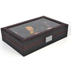 10 Slots Full Carbon Fiber Watch Storage Box