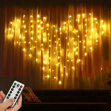 USB 2 Meters x 1.5 Meters 128 Led Hearts Fairy Curtain Lights , Warm White