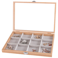 12 Grids Wooden Watch Jewelry Storage Box