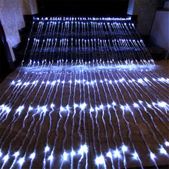 8 Speed - 3 Meter x 3 Meter Meteor Curtain Lights Power Point, Pure White