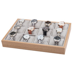 12 Grids Wooden Watch Jewelry Storage Tray - Starzdeals