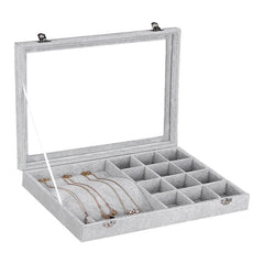 Velvet Jewelry Box - 2 in 1 (Series 2) with Glass Top