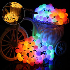 8 Modes - 10 Meter 100 Balls Fairy String Light , Multi , Power Point