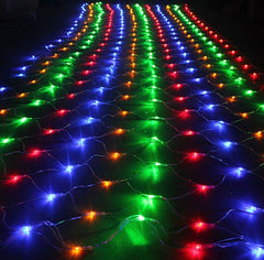 8 Modes - 3 Meter x 3 Meter 240 Led Fairy Curtain Net Light Power Point , Multi