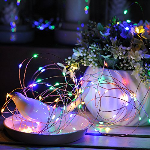10 Meters 100 Led USB Copper Wire with 8 Modes + Remote Control, Multi