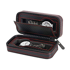 2 Slots Full Carbon Fiber Travel Watch Holder - Starzdeals