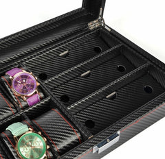 6 Slots Full Carbon Fiber Watch + Spectacles - Starzdeals