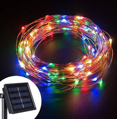 Solar ed Power 8 Modes - 10 Meter 100 Led Copper Wire , Multi