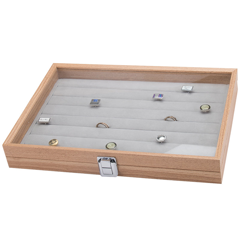 Ring Slot Wooden Storage Box