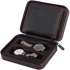 4 Slots Full Carbon Fiber Travel Watch Holder.