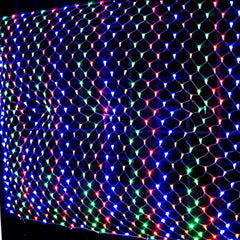 8 Modes - 3 Meter x 3 Meter 320 Led Fairy Curtain Net Light Power Point , Multi - Starzdeals