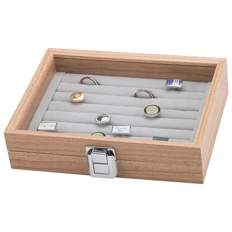 Wooden Ring Small Jewelry Storage Box
