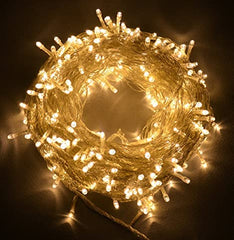 Static Mode - 20 Meter 200 Led Fairy String Light Power Point , Warm White