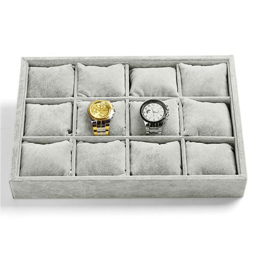 12 Slots Tray with Soft Cushion Pillows Watch Jewelry Display Storage Box - Starzdeals