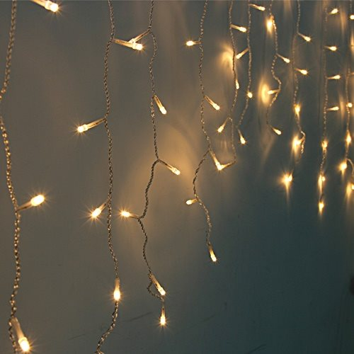 3 Meter 100 Led Battery Operated Curtain Lights, Warm White - Starzdeals