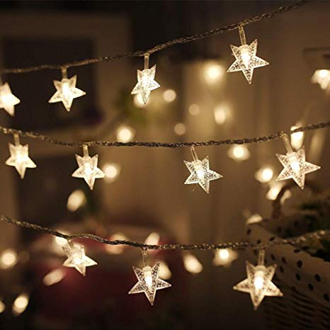 8 Modes - 10 Meters 100 Stars Fairy String Light Power Point, Warm White - Starzdeals