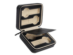 4 Slots Travel Watch Case - Black.