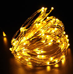 3 Meter 30 Led Battery Operated Copper/Silver Wire , Warm White
