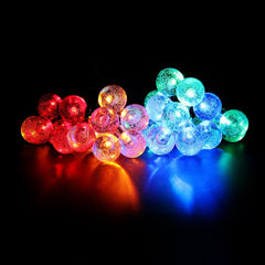 Battery Operated - 5 Meter 50 Crystal Balls String Light , Multi