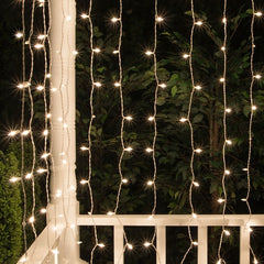 3 Meter x 1 Meter 160 Led Battery Operated Curtain Light , Warm White - Starzdeals