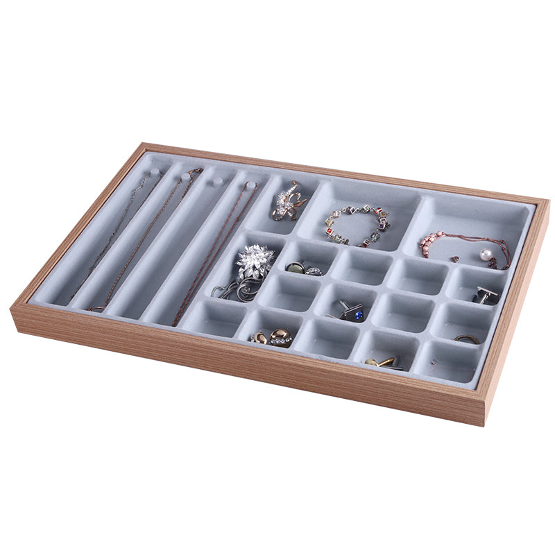 Multi Purpose Wooden Jewelry Storage Tray