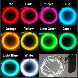 Battery Operated - 5 Meters Neon Lights, 10 Colors Available