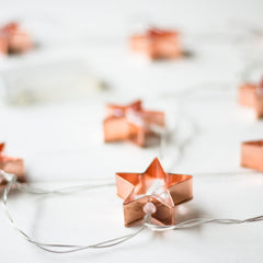 4 Meters 20 Rose Gold Stars Battery Operated Fairy String Lights