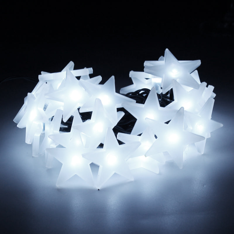 Battery Operated - 4 Meter 40 Stars Fairy String Light , Pure White